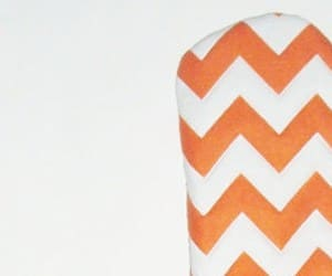 Orange Chevron Oven Mitts